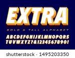 vector typography 3d font ... | Shutterstock .eps vector #1495203350