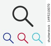 search icon vector. magnify sign