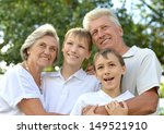 happy family walking in the... | Shutterstock . vector #149521910