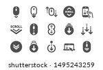 scroll down icons. scrolling... | Shutterstock .eps vector #1495243259