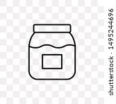 jam jar icon isolated on...