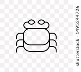 crab icon isolated on...