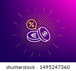 coins money line icon. halftone ... | Shutterstock .eps vector #1495247360