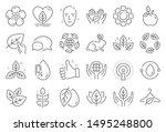organic cosmetics line icons.... | Shutterstock .eps vector #1495248800