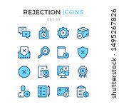 rejection icons. vector line... | Shutterstock .eps vector #1495267826