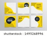 set modern square editable...   Shutterstock .eps vector #1495268996
