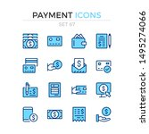 payment icons. vector line...   Shutterstock .eps vector #1495274066
