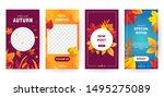 set of autumn social media... | Shutterstock .eps vector #1495275089