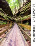 Pictures of witches gulch located in Wisconsin Dells while doing an upper dells boat tour