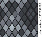 vector grey mosaic seamless...   Shutterstock .eps vector #1495293533