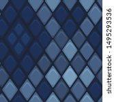 vector blue leather seamless...   Shutterstock .eps vector #1495293536