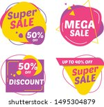 super sale tag design vector... | Shutterstock .eps vector #1495304879