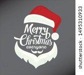 christmas vector illustration... | Shutterstock .eps vector #1495310933