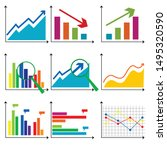 charts and graphs on the white...   Shutterstock .eps vector #1495320590