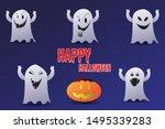 happy halloween theme poster ...   Shutterstock .eps vector #1495339283