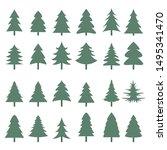 christmas tree icons set.... | Shutterstock .eps vector #1495341470