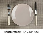 knife  color plate and fork  on ...   Shutterstock . vector #149534723