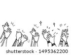 hand drawn of hands clapping... | Shutterstock .eps vector #1495362200