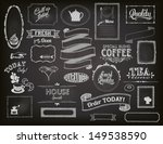chalkboard ads  including... | Shutterstock .eps vector #149538590