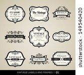 vector set of calligraphic... | Shutterstock .eps vector #149540420