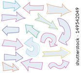 set of colored arrows | Shutterstock .eps vector #149542049