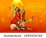 illustration of goddess durga...   Shutterstock .eps vector #1495426760