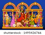 illustration of goddess durga... | Shutterstock .eps vector #1495426766
