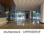 empty hall in the modern office ... | Shutterstock . vector #1495430519