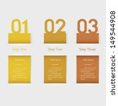 design clean number banners... | Shutterstock .eps vector #149544908