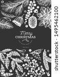 christmas banner template.... | Shutterstock .eps vector #1495462100