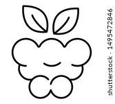 delicious raspberry icon.... | Shutterstock .eps vector #1495472846