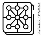 nylon fabric icon. outline... | Shutterstock .eps vector #1495473866
