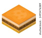 slice cake icon. isometric of... | Shutterstock .eps vector #1495476389