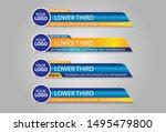 lower thirds design template... | Shutterstock .eps vector #1495479800