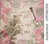 Vintage Postcard Flowers With...