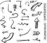 arrows doodle illustration .... | Shutterstock .eps vector #1495509593