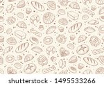 baking doodle background.... | Shutterstock .eps vector #1495533266