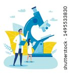 cartoon female and male doctor...   Shutterstock .eps vector #1495533830