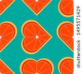 Seamless Pattern With Orange In ...