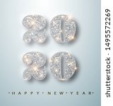 happy new year banner with... | Shutterstock .eps vector #1495572269
