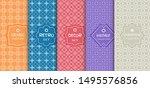 set of seamless line patterns ... | Shutterstock .eps vector #1495576856