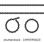 Bicycle Chain Design Vector...