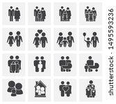 family related on background... | Shutterstock .eps vector #1495593236