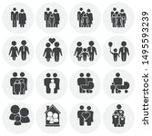 family related on background... | Shutterstock .eps vector #1495593239
