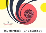 background with optical... | Shutterstock .eps vector #1495605689