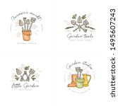 vector set of logos  badges and ... | Shutterstock .eps vector #1495607243