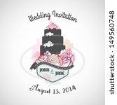 wedding invitation   Shutterstock .eps vector #149560748
