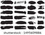 a set of grunge vector brushes. ... | Shutterstock .eps vector #1495609886