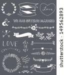 wedding graphic set  arrows ... | Shutterstock .eps vector #149562893