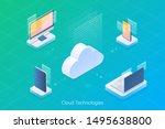 laptop  desktop  smartphone...   Shutterstock .eps vector #1495638800